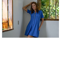 Vestido Chemisier De Pregas- Frete Grátis -marca Belle & Bei