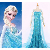 Vestido Fantasia Elsa Adulto Luxo - Pronta Entrega
