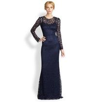 Vestido G Modelo Importado Longo Elegante Sereia Renda