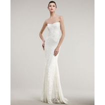 Vestido P- Importado Elegante Longo Noiva Sereia Em Renda