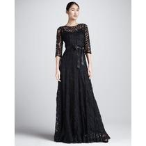 Vestido - G - Importado Longo Refinado Elegante Renda Preto