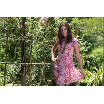 Vestido Belle & Bei Em Chiffon Estampa Floral - Frete Grátis