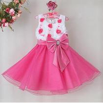Vestido Festa Infantil Bebe Menina Importado Pronta Entrega