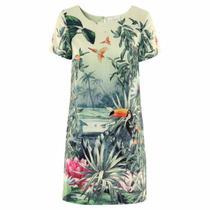 Vestido Tubinho Tropical - H & M - Especial - Pronta Entrega