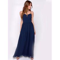 Vestido Festa Azul/vestido De Festa Longo/madrinha/casamento