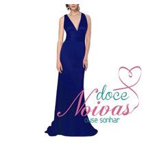Vestido Festa Madrinha Formatura Azul Royal Pronta Entrega