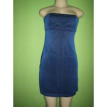 Vestido T.q.c Azul Bordadinho Tamanho P