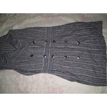 Vestido Linho Riscas Tamano 42