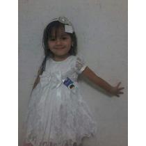 Vestido Branco Para Batizado Festa Casamento Infantil