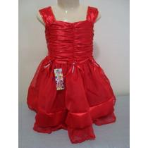 Lindo Vestido De Organza No Tamanho De 1 Ano! Modelo 317.