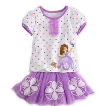 Conjunto Disney Nova Princesa Sofia 2014 Tutu Pronta Entrega