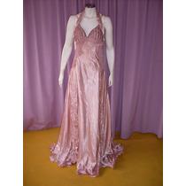 Vestido Fino Para Festas De Gala, Em Material Sintético Rosa