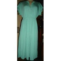 Vestido Azul,verde Agua,malha, Armazem,erva Doce,tam Gg