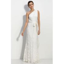 Vestido Noiva Boho Chic Renda - Um Ombro Só Estilo Grego