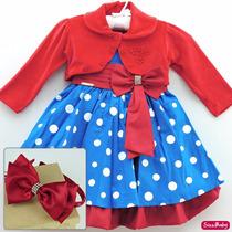 Vestido Festa Infantil Galinha Pintadinha Com Laço E Tiara