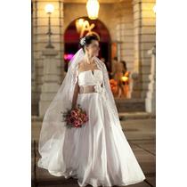 Vestido De Noiva Iris Clemência-exclusivo-abaixou O Preço