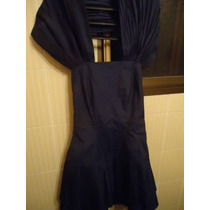 Vestido Em Tafeta De Seda C/ Plissados - Tam P