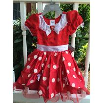 Vestido Minnie Mouse Authentico Da Disney P/entrega