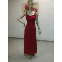 Vestido De Madrinha Em Crepe Georgette Vermelho M107