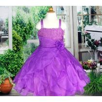 Vestido Infantil/festa/princesa Rosa,pink,branco Ou Lilás