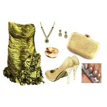 Vestido Festa Curto Tafeta Verde Tomara Caia