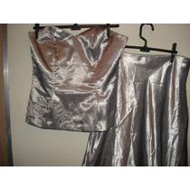 Vestido De Festa (saia E Corpete) C/ Bordados Tam P