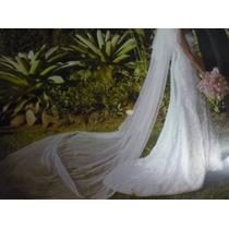 Vestido De Noiva Em Renda Francesa Bordada E Cetim Francês