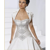 Vestido De Noiva Requinte Elegancia Com Bolero