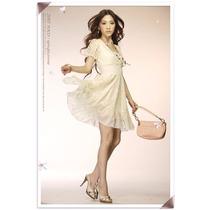Vestido Importado M- Feminino Elegante E Romântico Em Renda