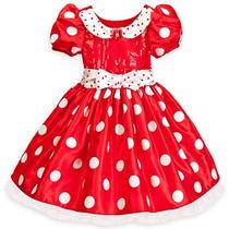 Disney Vestido Fantasia Minnie Vermelha Luxo