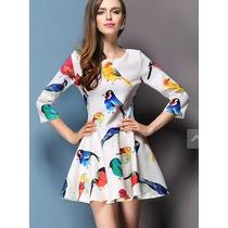 Vestido Pássaros Importado- Linha Animal Print - Outono 2014