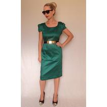 Vestido Tubinho Verde Gg + Perfume Promoção Moda Gospel