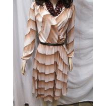 Elegante Vestido Vintage Com Saia Plissada