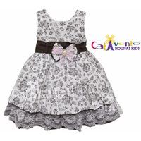 Vestido De Festa Infantil - Com Tiara