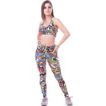 Kit 10 Conjunto Fitness Legging + Top Suplex, Atacado