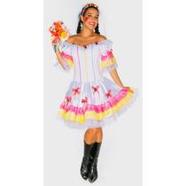 Vestido Noiva Junino Adulto Festa Junina Caipira - Luxo