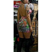 Vestido Costa Pelada Com Bojo Bandagen Colorido