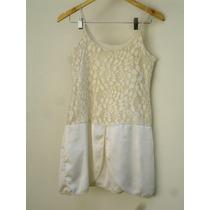 Vestido Branco Da Farm Bordado De Renda - Promoção!