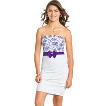 Vestido Juvenil Tomara Que Caia Branco E Floral Tam 18