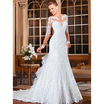 Vestido Noiva Importado Sob Encomenda Sereia Cauda Paetizada