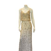 Vestido Longo Bordado Marfim E Dourado S2/13