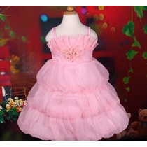 Vestido Infantil Festa/princesa Estilo Balone