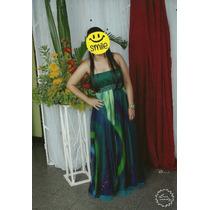 Vestido Longo Formatura, Festa, Eventos. Verde, Semi-novo.