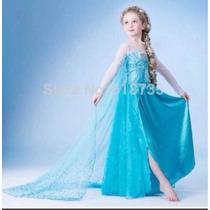 Fantasia Elsa Pronta Entrega Nova Frozen 4/5 Anos