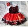 Fantasia Espanhola Vestido Infantil Com Flor Renda E Voal