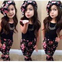 Conjunto Fashion - Patricinha Mirim- Tam. 1 E 2 Anos