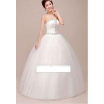 Vestido De Noiva Modelo Fada Trabalhado Busto Pronta Entrega