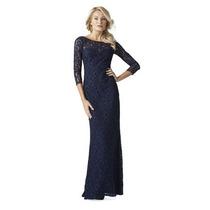 Vestido G Importado Longo Clássico Elegante Em Renda Azul
