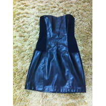 Lindo Vestido Zara Detalhe Em Couro!