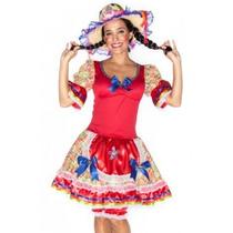 Vestido Caipira Festa Junina Adulto